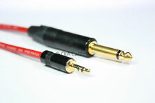 Professional Stereo Mini Jack 3.5mm to Mono Jack 6.35mm Van Damme Cable