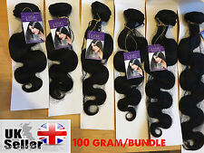 100g Brazilian Real Virgin Remy Human Hair Extensions Wefts Unprocessed Weave