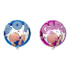 Round Girl Boy Print Foil Balloon for Baby Shower Crafts Party Gifts Toys Globos