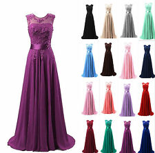 New Long Prom Formal Bridesmaid Wedding Ball Gowns Chiffon Evening Party Dresses