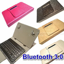 cuoio Custodia Tastiera Bluetooth per Samsung Galaxy Tab 4 Tablet 17,8 Cm