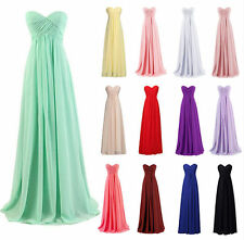 Long Bridesmaid Wedding Formal Party Dresses Chiffon Cocktail Prom Evening Gowns