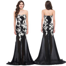 Sexy Long MASQUERADE Ball Gowns Cocktail Prom Formal Evening Party Black Dress