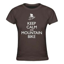 Keep Calm and Mountain Bike Frauen T-Shirt