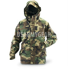 US Army Cold Wet Weather Gen 1 ECWCS Waterproof Woodland Goretex Parka Jacket