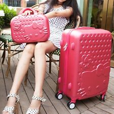 "Hello Kitty 28"" Trolley High Quality ABS Suitcase Luggage Travel Set-6 Colors"