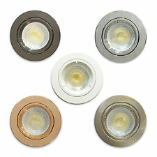 10 X Round GU10 Spots Ceiling Fixed Downlight Recessed Spotlights Downlight LED