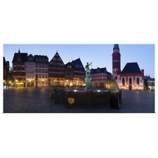 Poster Print Wall Art entitled Half-timbered houses on the hill with Justice