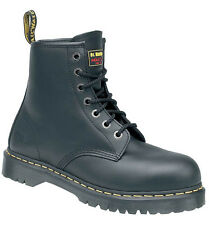 Dr Martens 6601 Icon Black Leather Ankle Safety Boots with Steel Toe Caps 101ST