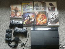 Sony Playstation 3 Super Slim 12GB+500 GB Charcoal Black 7 Games 2 Controllers