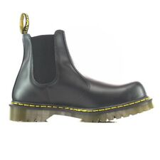 Dr Martens 2028 Icon Black Smooth Leather Dealer Safety Boots with Steel Toe Cap