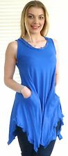 Sequin trimmed cotton tunic style tee - perfect chill out wear! - Stephie
