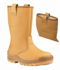 Jallatte Jalartic Tan leather Rigger Boot with Steel Toe Cap and Midsole