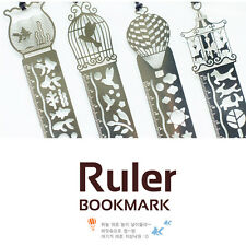 15cm Stainless Steel Drawing Hollow Out Rulers Bookmarks Party Gift Bag Fillers