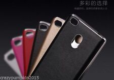 ★Xiaomi Redmi 3S Prime★ Luxury Leather TPU Back Chrome Bumper Frame Cover Case
