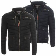 Geographical Norway Herren Winter Jacke Steppjacke Argent Schwarz Navy