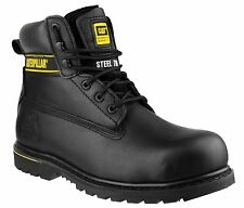 CAT Holton Black Safety Boots With Steel Toe Caps SB