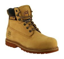CAT Holton Honey Safety Boots With Steel Toe Caps & Midsole S3  Size 6-13