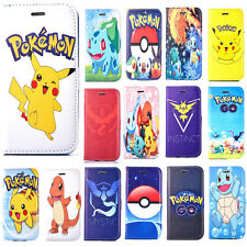 Cartoon Pokemon Pikachu Case for iPhone 6S/5S/SE/4S PU Leather Wallet Flip Cover