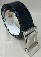 REAL 100% GENUINE LEATHER BLACK BELT FOR MEN'S / GENT'S OFFICIAL & FORMAL WEAR
