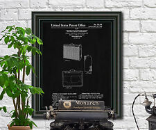 Fender Guitar Patent Print Amp Blueprint Art Fender Poster Guitar Illustration