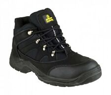 Amblers FS151 Vegan Friendly Safety Boots Black With Steel Toe Cap & Midsole