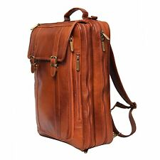 17 inch Expandable Leather Laptop Messenger cum office Bag
