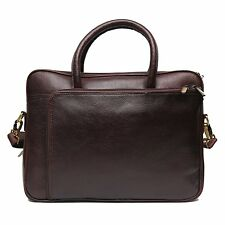 LEATHER COLLECTION 15 inch Expandable Laptop Messenger cum office Bag