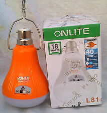 18W 40 LED/SMD RECHARGEABLE ONLITE Bulb Turch lamp .AC/DC WORK MAGA COMBO