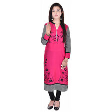 Indian Ethnic Pure Rayon Designer Printed Casual Wear Kurti Kurta VIKU_5005