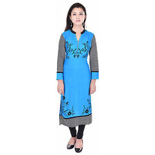 Indian Ethnic Pure Rayon Designer Printed Casual Wear Kurti Kurta VIKU_5008