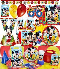 Mickey Mouse Clubhouse Birthday Party Supplies Tableware Cups Loot Bags Favours