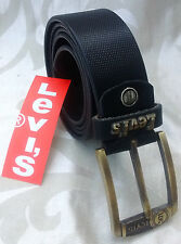 REAL 100% GENUINE LEATHER BLACK BELT FOR MEN'S & FORMAL WEAR Amazing Quality