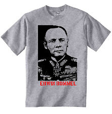 ERWIN ROMMEL DESERT FOX WWII - NEW COTTON GREY TSHIRT