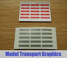 Self Adhesive Nameplates for OO Scale Hornby Virgin Pendolino Class 390 train