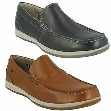 fallston Passo uomo CLARKS SLIP ON MOCASSINO IN PELLE SCARPE MOCASSINI CASUAL