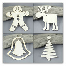 WOODEN BLANK SANTA FATHER CHRISTMAS Shape 8cm x10 laser cut  wood shapes