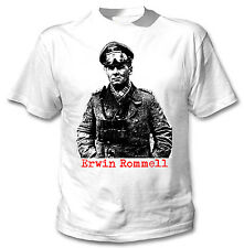 ERWIN ROMMEL DESERT FOX  WWII - NEW WHITE COTTON TSHIRT