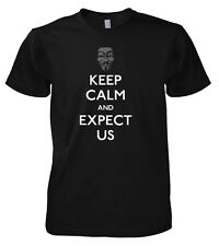 GEEK Anonymous Keep Calm and SI ASPETTANO USA T-SHIRT