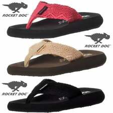 Ladies Girls Rocket Dog Spotlight Lima Crochet Flip Flops Black, Natural, Pink
