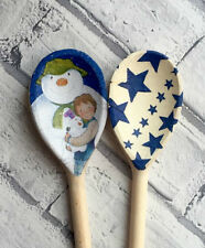 Christmas Decoupage Wooden Spoons using Emma Bridgewater & The Snowman designs