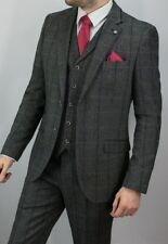 Designer Mens Tweed Herringbone Tweed Check Suit Jacket/Blazer, FREE ALTERATION