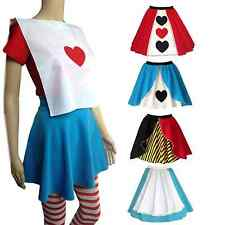 ALICE IN WONDERLAND Fancy Dress QUEEN OF HEARTS Skirt outfit Costume UK MADE