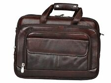 LEATHER COLLECTION 16 inch Expandable Laptop Messenger cum office Bag