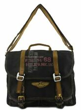 Canvas Messenger Bag Vintage  Look Crossbody Shoulder Multifunctional SchoolBag