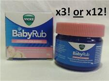 Vicks Baby Rub BabyRub soothing ointment 50g (1.76 oz) - SAVE THE MORE YOU BUY!!