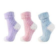 Ladies/Womens soft Feel slipper sock with gripper bottoms