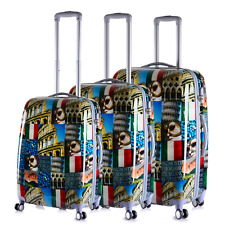 5 Piece ABS Hard Case 4 Wheeler Luggage Suitcase Trolley Travel Bag Case Travel