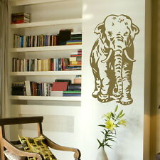 Giant elephant huge vinyl wall art sticker big mural transfer stencil large x38
