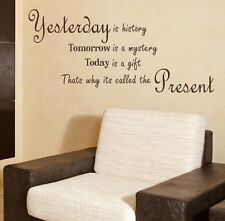 YESTERDAY TOMORROW TODAY decal wall art sticker quote transfer graphic DAQ12